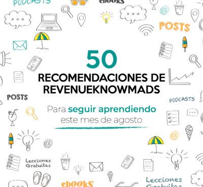 50 recomendaciones de RKM para seguir aprendiendo este mes de agosto